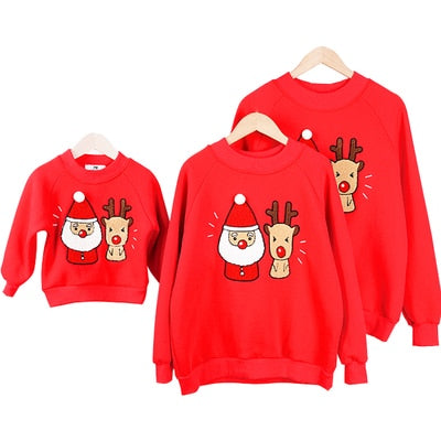 ad8155c4 Family Look Mommy and Me Father Mother Daughter Son Christmas Cotton  Sweater ...