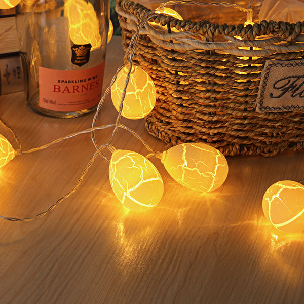 10/20/40 LED String Lights Christmas 1.5/3/6m Egg Light Lamp Tree Decor - mydealsite