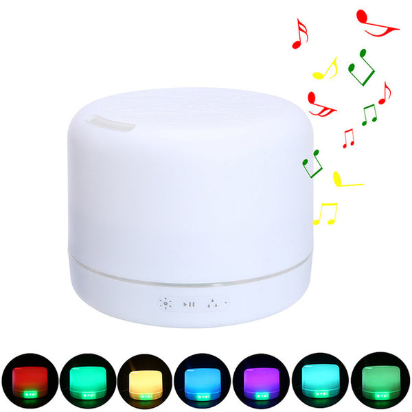500ML Essential Oil Diffuser with Wireless Bluetooth Speaker 7 Color Changing Night Light - mydealsite