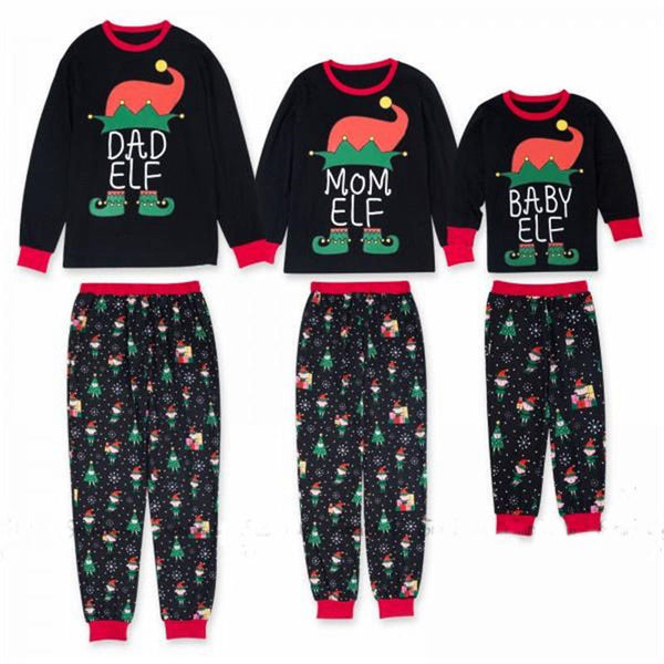Christmas Family Matching Outfits Elf Pajamas Set Adult Kids Sleepwear