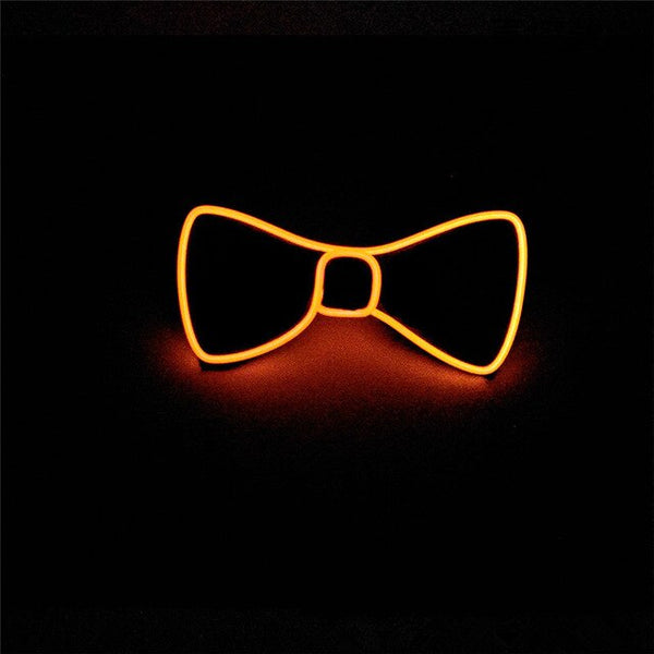 Men Glowing Bow Tie EL Wire Neon LED Luminous Party Haloween Christmas Luminous Light Up Decoration Bar Club Stage Prop Clothing