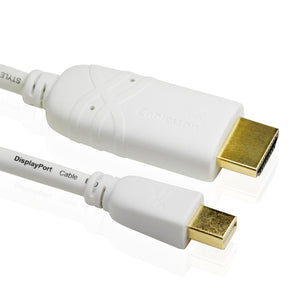 Cablesson Mini DisplayPort to HDMI Cable 3m for Apple iMac MacBook Pro Air LCD TV (VIDEO Adapter lead for Apple iMac- Unibody MacBook - Pro - Air & PC with Mini DP etc.)**Supports Audio and New Thunderbolt Port** Full HD 1080p 24k Gold Plated (White)