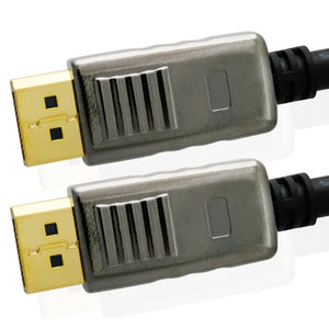Mithra DisplayPort to DisplayPort cable with locking - 7.5m, Male to Male - Apple, PC - DP 20pins connection, v1.2 displayport - gold plated connectors - for dp monitor with dp connector