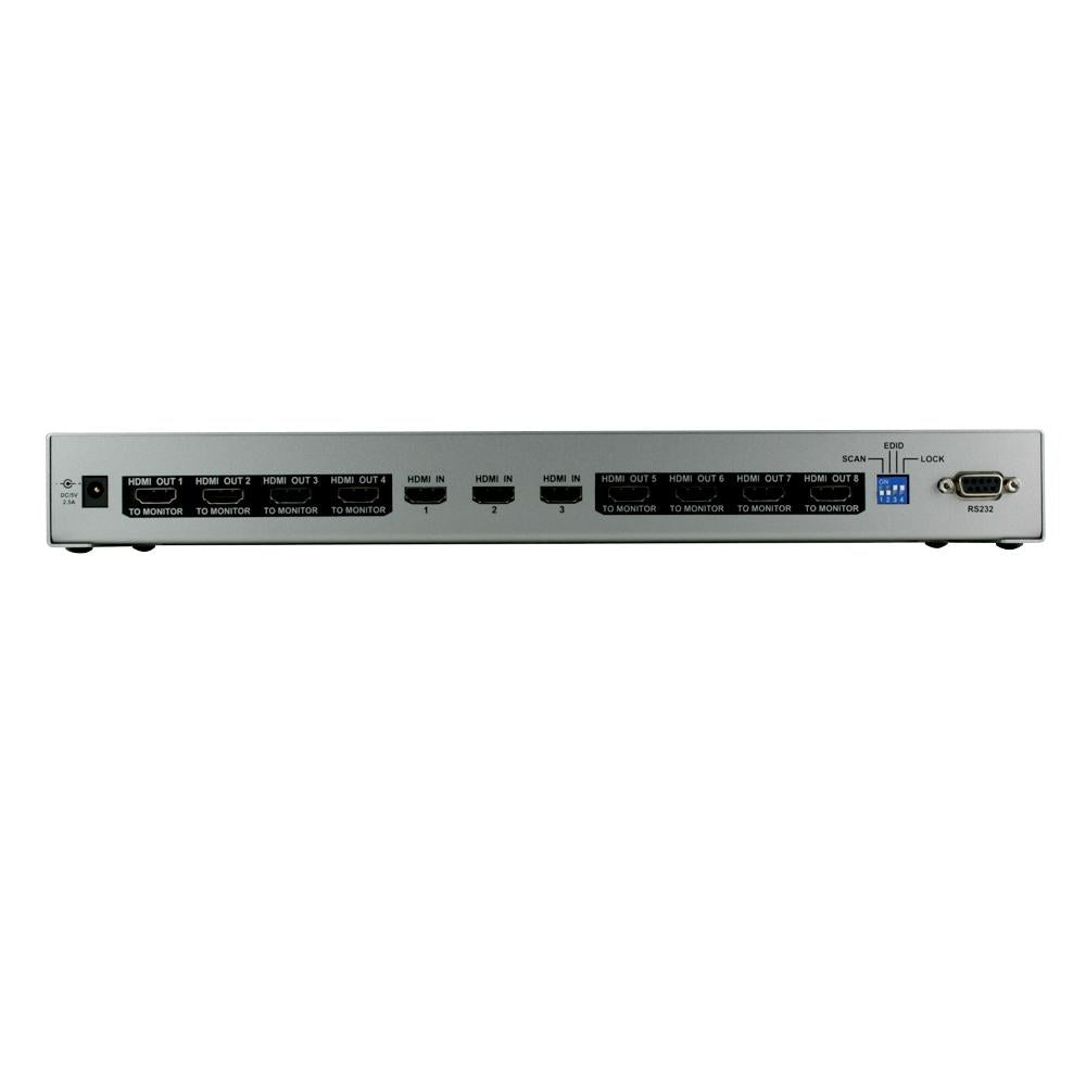 Octava HDDA38-UK 3x8 HDMI Splitter / Distribution Amp