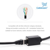 Cablesson 3m Cat6 Ethernet Gigabit LAN network cable (RJ45), UTP, downward compatible (Cat5, Cat5e) 10/100/1000Mbit/s, For Switch, Router, Modem, Internet, Broadband, Hub, Patch Panel,  Access Point, Black
