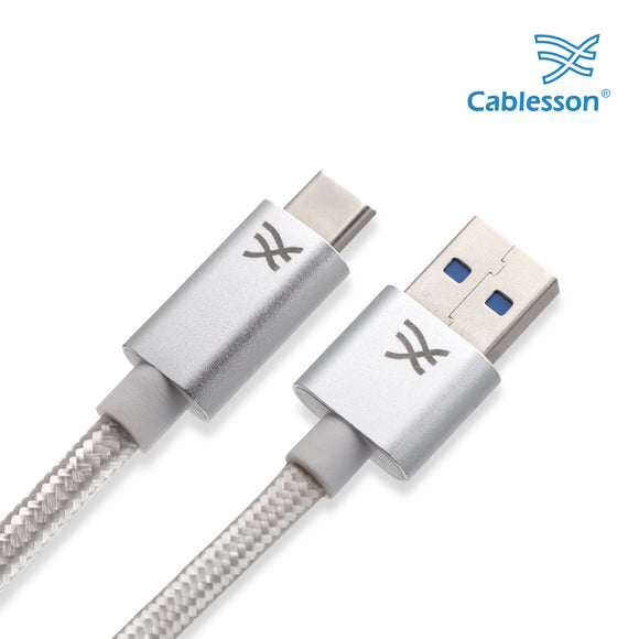 Cablesson Maestro USB C to USB A Cable 9.8ft (3m) (C to A) for Samsung S8, Nintendo Switch, the new MacBook, ChromeBook Pixel, Nexus 5X, Nexus 6P, Nokia N1 Tablet, OnePlus 2 and More USB Type-C Devices.