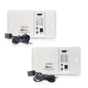 Cablesson HDelity HDBaseT 70m Wall Plate Extender (70m) (HDMI + IR) 4Kx2K Ultra HD Over Single Cat5e/Cat6 /Cat7, RS232 with bidirectional IR Control. Support 3D, 1080p, 4k, Deep Colour, UHD, HDR, CEC