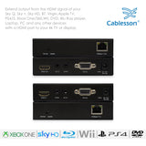 Cablesson HDelity HDBaseT 70m Extender - (70m) (HDMI + IR) 4Kx2K Ultra HD Over Single Cat5e/Cat6 /Cat7, RS232 with bidirectional IR Control. Support 3D, 1080p, 4k, Deep Colour, UHD, HDR, CEC