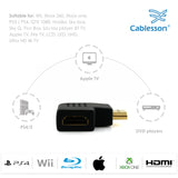 Kabelbaum vertikal flach links 5 x 90 Grad HDMI Adapter