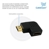 Kabelbaum vertikal flach links 2 x 90 Grad HDMI Adapter