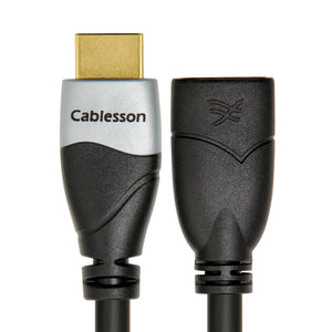 Cablesson Ivuna 1m High Speed HDMI Extension Cable (HDMI Type A, HDMI 2.1/2.0b/2.0a/2.0/1.4) - 4K, 3D, UHD, ARC, Full HD, Ultra HD, 2160p, HDR - for PS4, Xbox One, LCD, LED, UHD, 4k TVs - Black