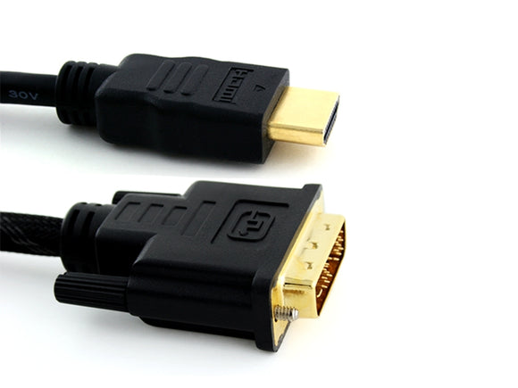 Basic 2m High Performance DVI to HDMI Cable - 1080p (Full HD) / v1.3 / Video / DVI / 24k Gold Plated