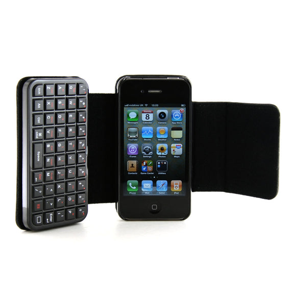 New Mini Bluetooth 2.0 Keyboard & Cover Case For iPhone 4.0 – Wireless