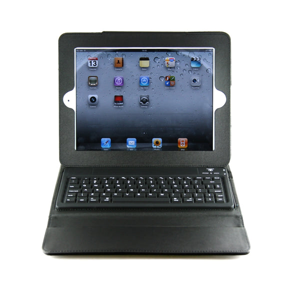 Reveware - Bluetooth Keyboard & Cover Case for Apple iPad 2 (w/ Leather Case) Wireless