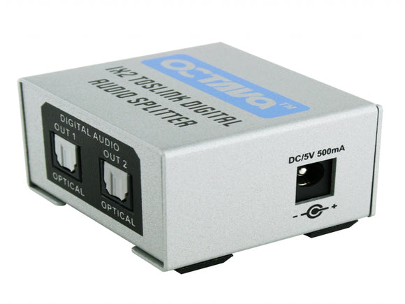 Octava Toslink12- UK 1x2 Digital Optical Toslink Audio Splitter