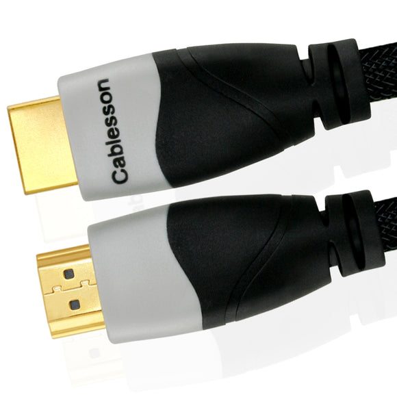 Cablesson Ikuna 1m High Speed HDMI Cable (HDMI Type A, HDMI 2.1/2.0b/2.0a/2.0/1.4) - 4K, 3D, UHD, ARC, Full HD, Ultra HD, 2160p, HDR - for PS4, Xbox One, Wii, Sky Q, LCD, LED, UHD, 4k TVs - Black