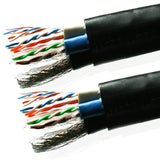VDC Contractor Series Multimedia Hybrid Cable (2 x Cat 6 U/UTP, 1 x Cat 5E U/UTP and 2 quad shielded RG6), Black 250-100-212 - 7m