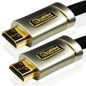 XO Platinum 4m High Speed HDMI Kabel (HDMI Typ A, HDMI 2.1/2.0b/2.0a/2.0/1.4) - 4K, 3D, UHD, ARC, Full HD, Ultra HD, 2160p, HDR - für PS4, Xbox One, Wii, Sky Q, LCD, LED, UHD, 4k Fernsehern - schwarz