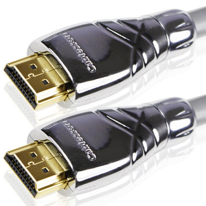 Cablesson Maestro 1m High Speed HDMI Kabel - 8k, 3D, Full HD, Ultra HD, 2160p, HDR, ARC, Ethernet - (HDMI 2.1/2.0b/2.0a/2.0/1.4) für PS4, Xbox One, Wii, Sky Q, LCD, LED, UHD, CL3 zertifiziert - grau