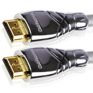 Cablesson Maestro 4m High Speed HDMI Kabel - 8k, 3D, Full HD, Ultra HD, 2160p, HDR, ARC, Ethernet - (HDMI 2.1/2.0b/2.0a/2.0/1.4) für PS4, Xbox One, Wii, Sky Q, LCD, LED, UHD, CL3 zertifiziert - grau
