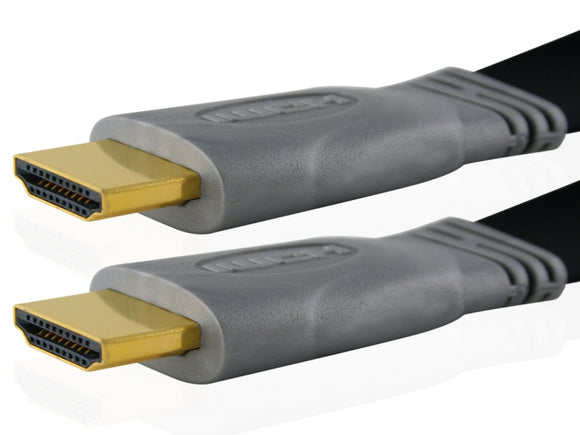 Cablesson Flat 1m High Speed HDMI Kabel (HDMI Typ A, HDMI 2.1/2.0b/2.0a/2.0/1.4) - 4K, 3D, UHD, ARC, Full HD, Ultra HD, 2160p, HDR - für PS4, Xbox One, Sky Q, LCD, LED, UHD, 4k Fernsehern - schwarz