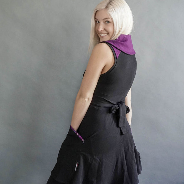 The back view of the spirit collection. Fun circle dress with back bow, and pockets. This design has no sleeves.