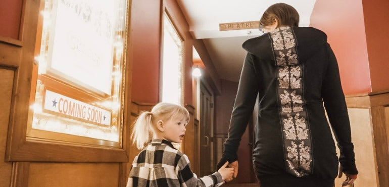the back view of the long hoodie to wear with tights or as a dress