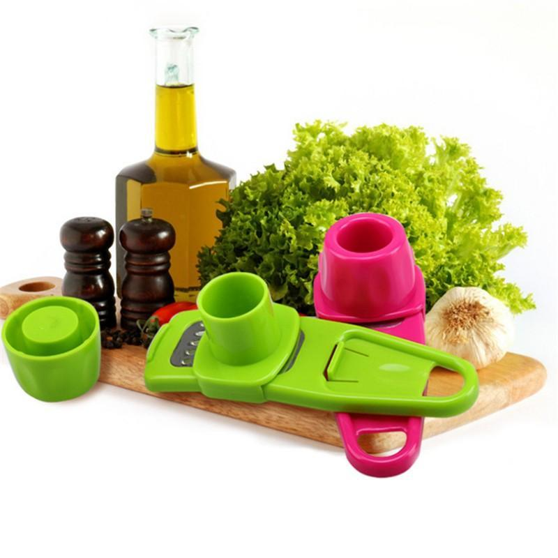 Multi-Purpose Garlic And Ginger Grater Peeler And Crusher