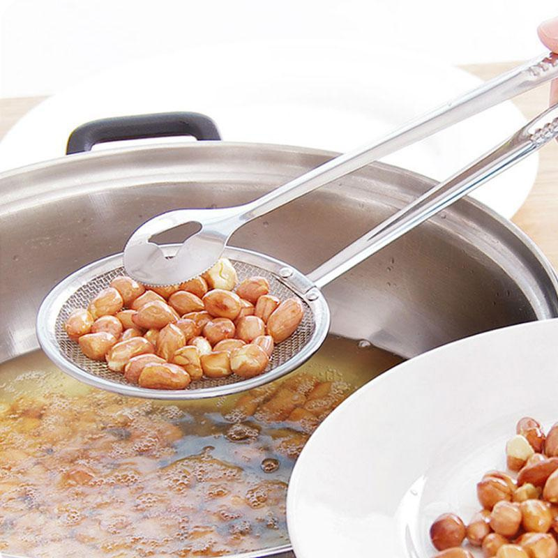 Multi-Function Stainless Oil-frying Filter Basket With Clip