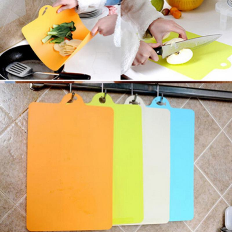 Flexible Plastic Non-slip Cutting Board with a Hang Hole