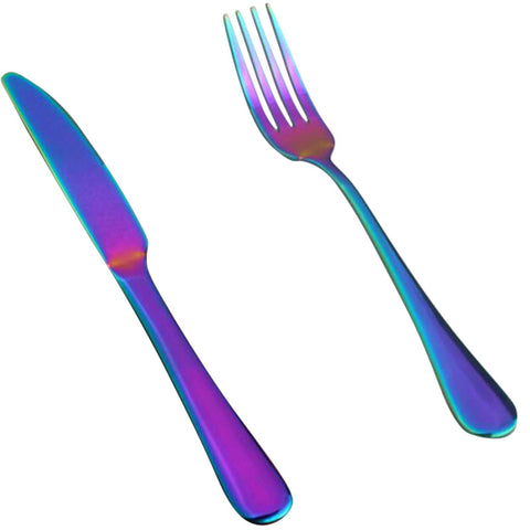Image of Rainbow Stainless Steel Tableware Cutlery Sets