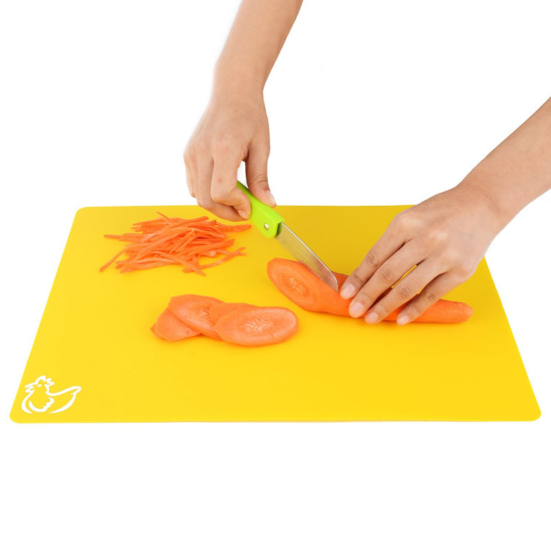 Set of 4 Plastic Non-slip Rectangle Chopping Boards