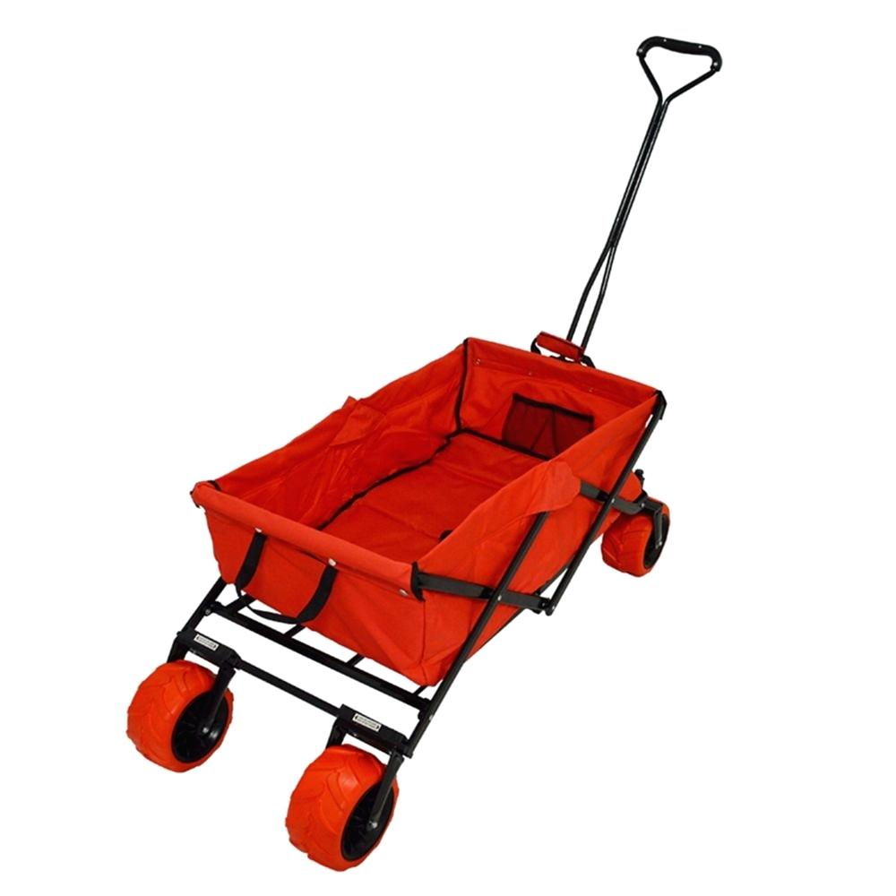 Creative Outdoor Distributor All Terrain Folding Wagon, Red