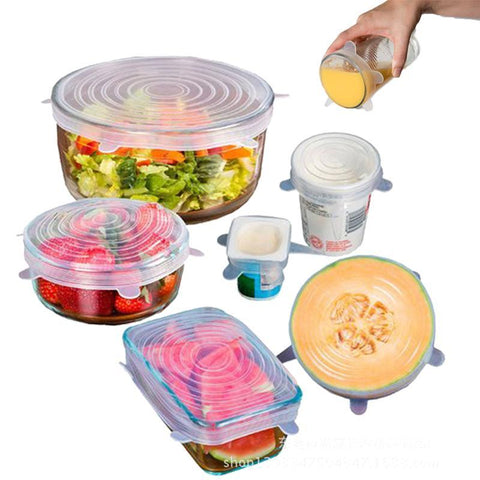 Image of Universal Silicone Lids Stretch Suction Cover