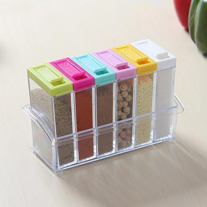 Transparent Spice Jar Box