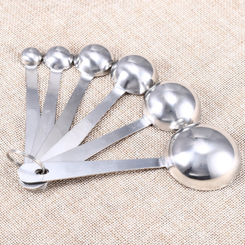 Image of Stainless Steel Measuring Cups and Spoons Baking Tools Set