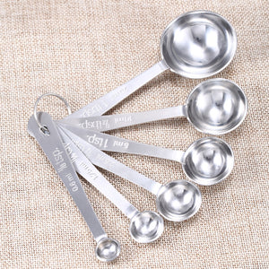 Stainless Steel Measuring Cups and Spoons Baking Tools Set