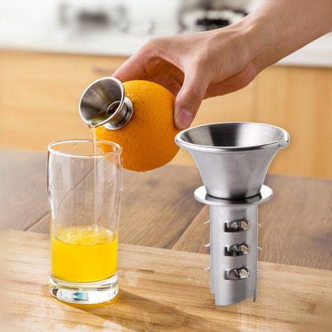Image of Manual Mini Stainless Steel Citrus Fruit Juicer