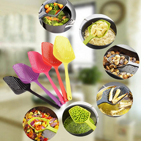 Image of Non-Toxic Large Scoop Nylon Durable Strainer Kitchen Accessories