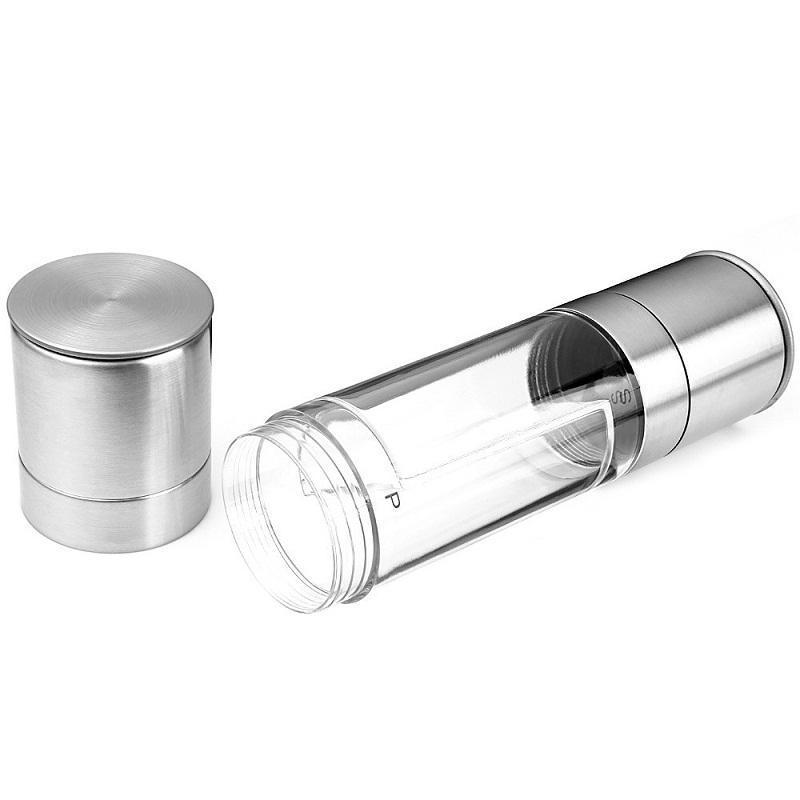 Pepper and Salt Grinder 2 in 1 Stainless Steel