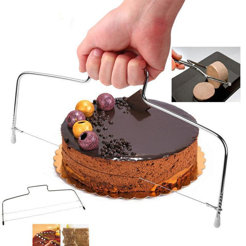 Image of Adjustable Double Stainless Cake or Bread Cutter