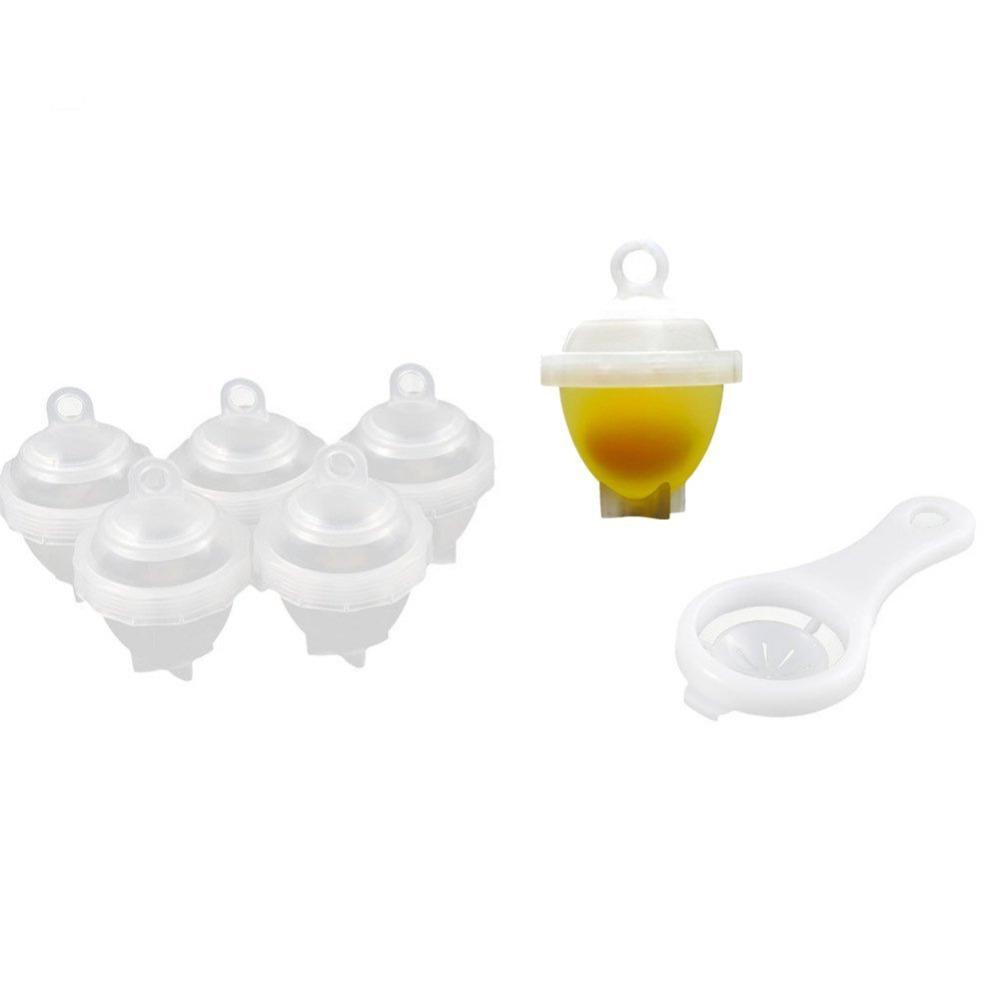6 Pieces Egg Cooker with Yolk Separator
