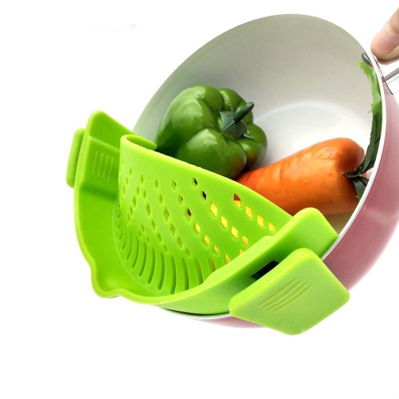 Clip-on Clip-In Silicone Strainer Flexible Fitting of All Sizes