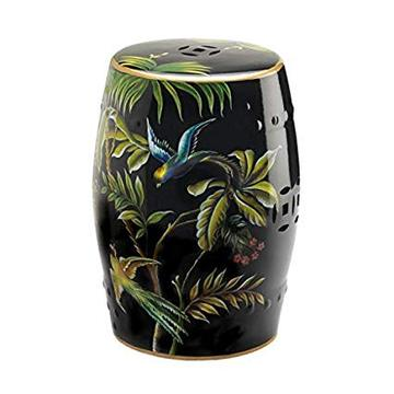 Image of TROPICAL BIRDS DECORATIVE STOOL