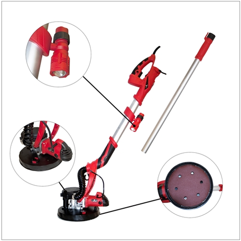ALEKO DP 3000 Lightweight Drywall Sander with LED Light Adjustable Speed