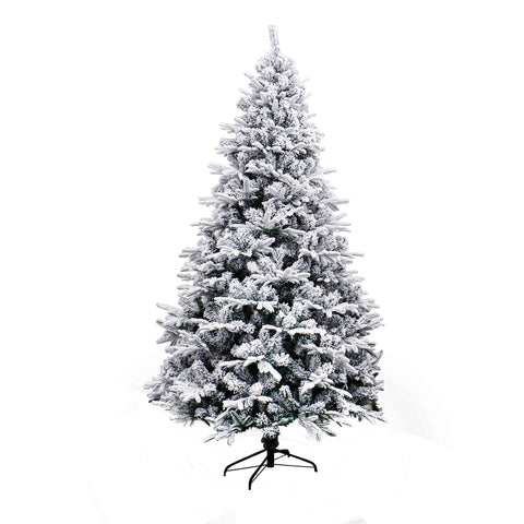 Image of ALEKO CTS83H990 Deluxe Artificial Indoor Christmas Holiday Tree 7 Foot Snow Dusted