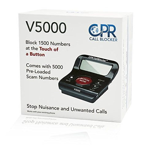 Image of CPR V5000 Call Blocker - Block All Robocalls, Scam Calls,  on Landline Phones