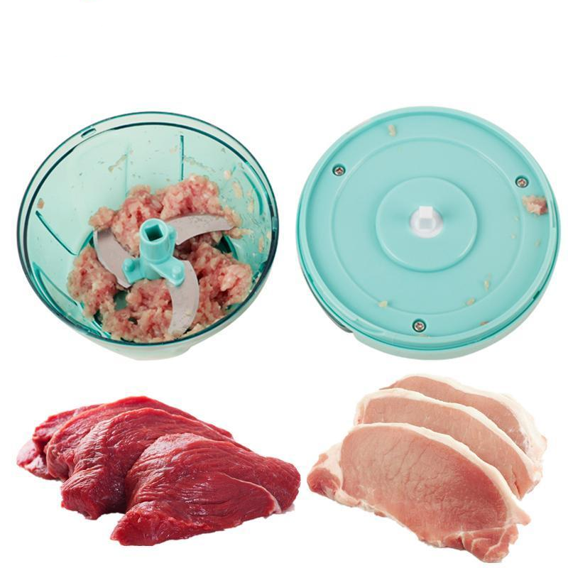Plastic+Stainless Steel Manual Meat Grinder