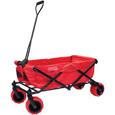 Image of Creative Outdoor Distributor All Terrain Folding Wagon, Red