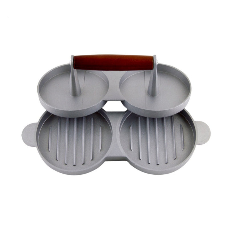 Aluminum Nonstick Double Patty Maker Press